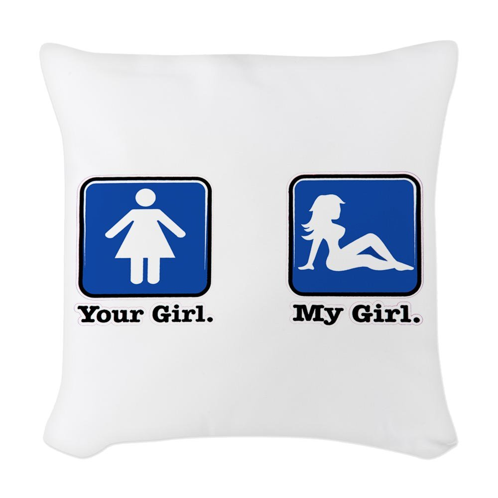Amazon.com : Woven Throw Pillow Your Girl My Girl ...