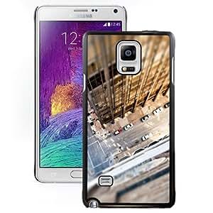 Beautiful Unique Designed Samsung Galaxy Note 4 N910A N910T N910P N910V N910R4 Phone Case With Look Down City Rooftop_Black Phone Case