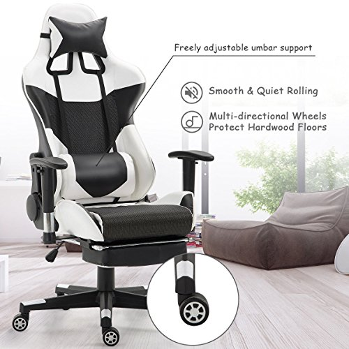 colibrox ergonomic gaming chair high back racing office chair w