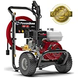 PowerBoss Gas Pressure Washer 3300 PSI 2.5 GPM Powered by HONDA GX200 with 30' EASYFlex High-Pressure Hose, 5 Nozzles & Detergent Injection