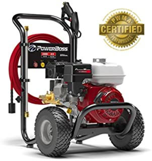 PowerBoss Gas Pressure Washer 3300 PSI 2.5 GPM Powered by HONDA GX200 with 30 EASYFlex