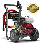 PowerBoss Gas Pressure Washer 3300 PSI 2.5 GPM Powered by HONDA GX200 with 30' EASYFlex High-Pressure Hose, 5 Nozzles...