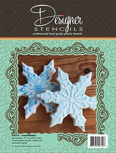 Snowflake Cookie Cutter & Stencil Set by Designer Stencils