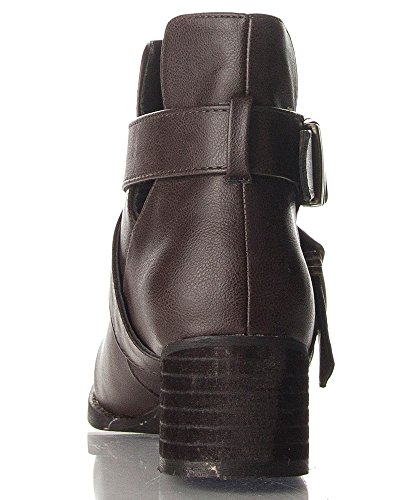 Breckelles Breckelles Womens Bronco-11 Bootie Boots New Brown Pu