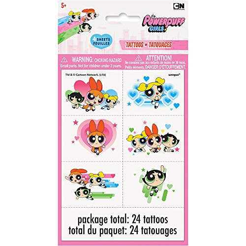(Powerpuff Girls Temporary Tattoos, 24ct )