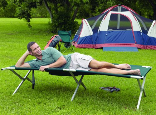 Texsport King Kot Giant Folding Camp Cot (Green, 83-Inch X 35-Inch X 20-Inch ), Outdoor Stuffs