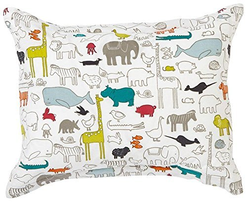 Pehr Designs Noah\'s Ark Sham With Reversible Grey Stripe, Multi