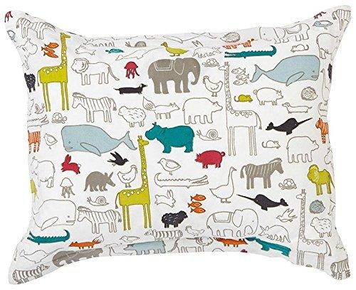 Pehr Designs Noah\'s Ark Sham With Reversible Grey Stripe, Multi