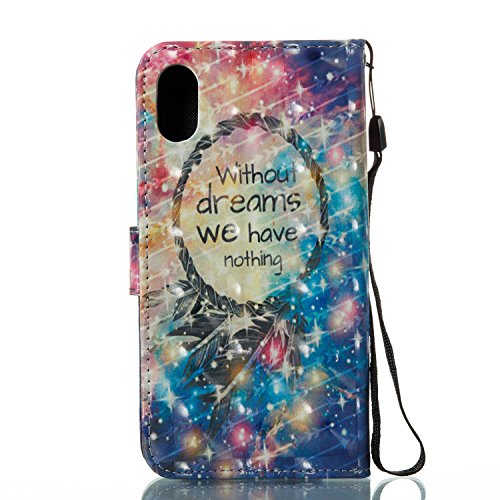 3D Painted Dream Catcher Cuir 9 Starry Carte iPhone BONROY Cat Etui Case de Slots Housse Gray 3D Painted Support à Rabat Etui Portefeuille Cover BHatq5ntx