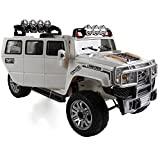 Luxury Edition 12v Elongated Ride on Car Hummer H3 Series Style, Toy for Kids, Boys and Girls, Music, Lights, Opening doors and Remote Control