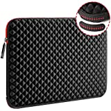 WIWU 13-13.3 Inch Diamond Neoprene Laptop Sleeve Case with Water Repellent & Super Corner Protection Laptop Bag for Macbook Air Chromebook ASUS HP Lenovo DELL XPS TOSHIBA (13.3 Inch, Diamond Black)
