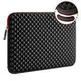 WIWU 15.6 Inch Diamond Laptop Sleeve Case with Water Repellent & Super Corner Protection Laptop Bag for MacBook Air Chromebook ASUS HP Lenovo DELL XPS Toshiba MacBook Pro (15.6 Inch, Diamond Black)