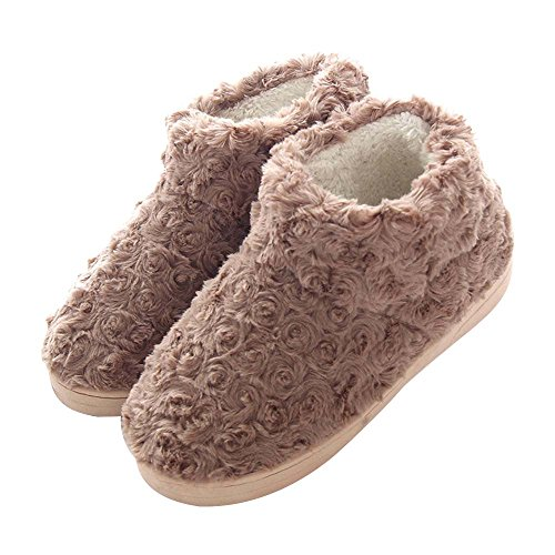 Plush Children's Color Sippers amp; Shoes Skid Lovely Anti Women's Indoor Eastlion Warm 13 Keep Home Winter Eq6zz1