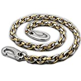 14'' ~ 36'' Two Tone Mens Biker Punk Wallet Chain 5N008WC Golden Silver Color 3P1 (20 Inches)