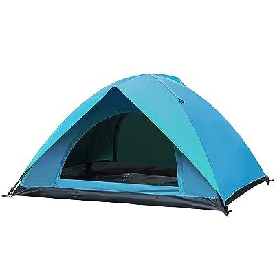 RFVBNM Tente extérieure double 2 unique camping sauvage camping pêche pluie voyage tente familiale