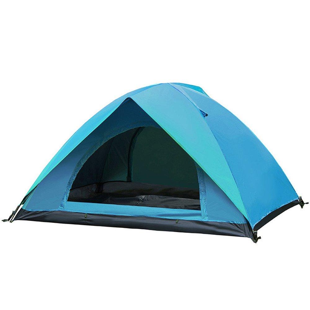 RFVBNM Outdoor-Zelt Doppel 2 Einzel Camping wild Camping Angeln Regen Reisen Familienzelt
