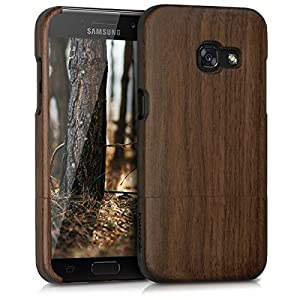 kwmobile Samsung Galaxy A3 (2017) Wood Case - Non Slip Natural Solid Hard Wooden Protective Cover Samsung Galaxy A3 (2017)
