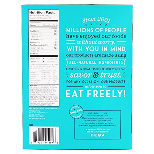 Enjoy Life Foods - Crispy Grain & Seed Bars Chocolate Marshmallow - 12 Bars