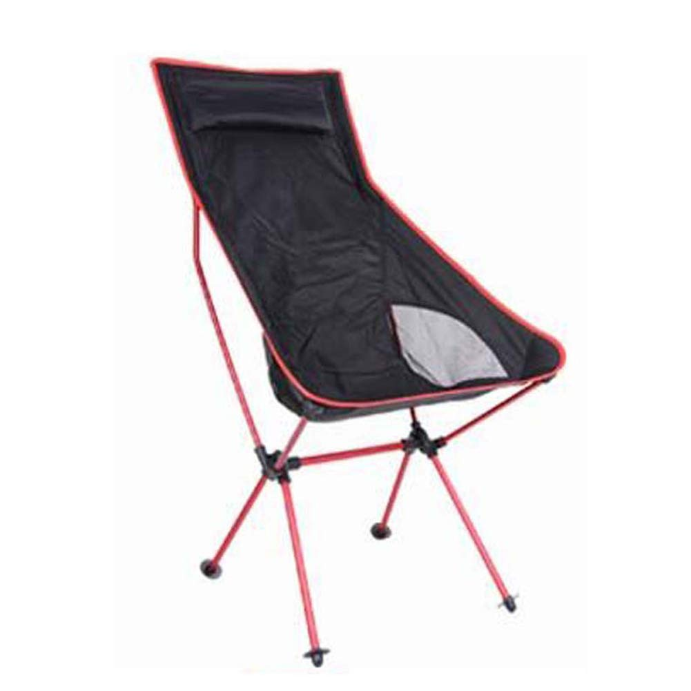 Outdoor Folding Chair Ultra Light Portable Multi-Function Fishing Stool Camping Beach Chair-Red