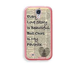 Cool Painting Shawnex Every Love Story ThinShell Protective Pink Plastic Samsung Galaxy S4 Case - Galaxy i9500 Case Snap On Case