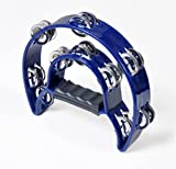 Wanrane Musical Toy Instruments Adult KTV Half Moon Double Tambourine Infant Toy Rattle Party Instruments Hand Bell(Blue)