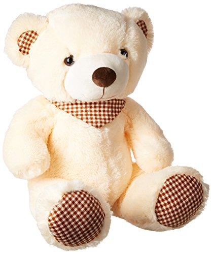 Dimpy Stuff Bear with Scarf, Cream