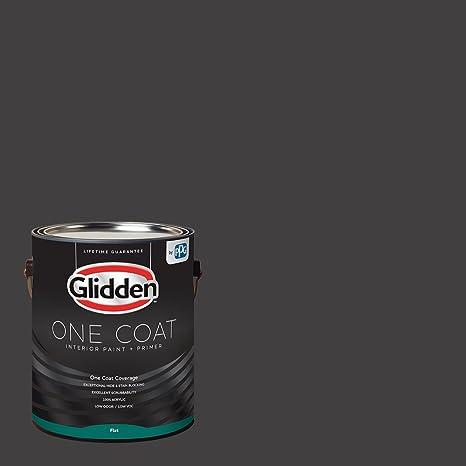 Glidden Interior Paint + Primer Black/Black Magic One Coat Flat 1-Gallon Amazon.com Home Improvement & Glidden Interior Paint + Primer: Black/Black Magic One Coat Flat ...