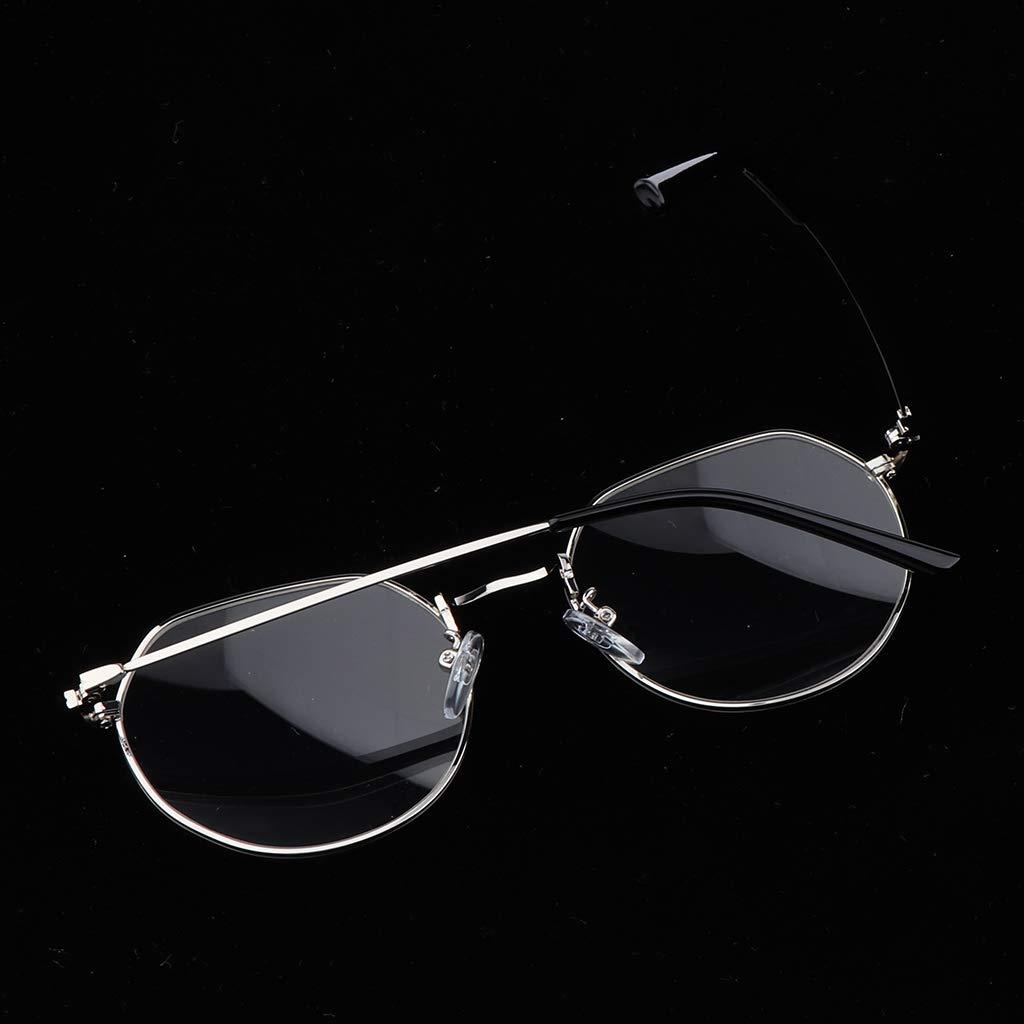 Schwarzes Gold P PRETTYIA Herren Damen Klare Linse Gl/äse Dekobrille Nerdbrille Klassisches Rund Rahmen Glasses
