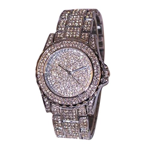 DEESEE(TM)Luxury women watches rhinestone ceramic crystal Quartz watches Lady Dress Watch