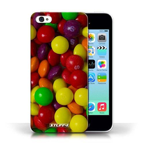Etui pour Apple iPhone 5C / Skittles conception / Collection de Bonbons
