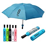Compact Automatic Umbrella Fashion Wine Bottle Folding Anti UV Parasol Sun Rain Gear (Random: Color)