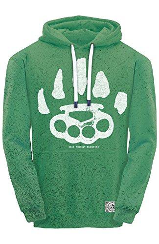 Sudadera Hombre Para Brawlers Con Knuckle Verde Bear Capucha qxEwYHnSfC