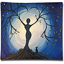 """18""""X18"""" Pillowcase Covers Cotton Square Throw Pillow Case Cover Girl Tree Double Printed Decorative Cushion For Sofa"""