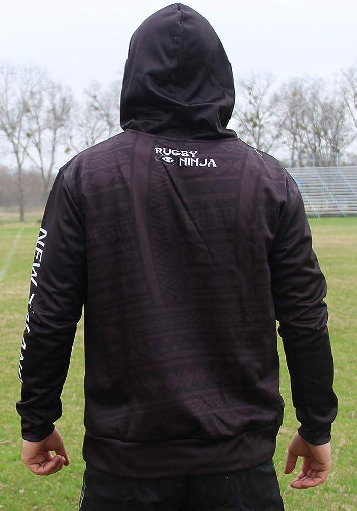 Rugby Ninja New Zealand Tribal Fern Hoodle