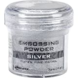 Image of Ranger Embossing Powder, 0.56-Ounce Jar, Super Fine Silver