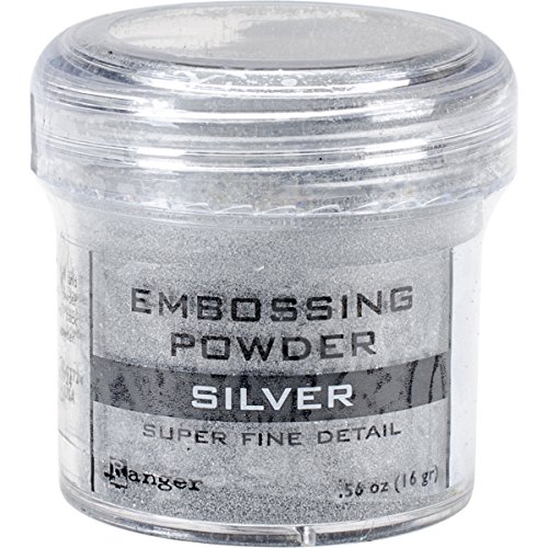 Ranger Embossing Powder, 0.56-Ounce Jar, Super Fine Silver (Silver Powder)