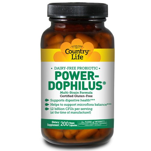 COUNTRY LIFE VITAMINS POWER-DOPHILUS,MILK FREE, 200 VCAP by COUNTRY LIFE VITAMINS