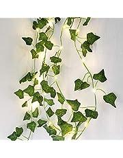 2M 20LED Leaf String Lights,Vine Fairy Lights Batteries Powered Green Leaf Garland Maple String Lights for Bedroom Home Kitchen Garden Office Wedding Wall Indoor Outdoor Decoration
