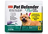 HARTZ Pet Defender Plus Flea & Tick Drops for Dogs and Puppies 5-22lbs - 3 Monthly Treatments