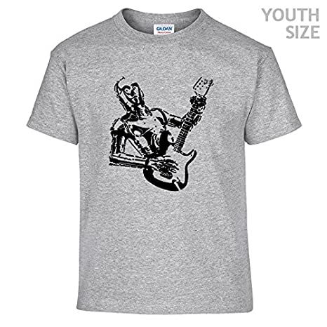 068804331e Amazon.com: Youth Electric Guitar T Shirt Kids Star Wars Shirts C3PO  Vintage Rock Shirt Girls Boys Childrens Shirtmandude Kids T Shirts: Clothing