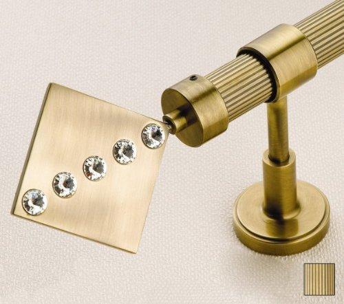 WinarT USA 8.1040.20.05.360 Hera 1040 Curtain Rod Set -.75 in. - Antique Brass - 141 in.   B00DHPDC46