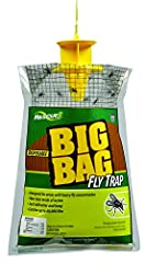 Great for farms and ranches! Put one near the barn with the horses. No chemicals, no mess, no sticky paper, and no dead flies to handle. No pesticides! Will not harm beneficial insects. Disposable and environmentally safe. One female housefly...