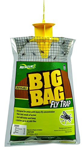 (RESCUE Outdoor Non-Toxic Disposable Big Bag Fly Trap )