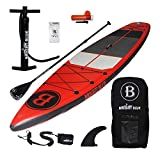 """Bright Blue 11'6"""" Inflatable Stand Up Paddle board (6"""" Thick) with Pump, Paddle,Backpack"""