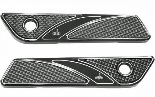 CARL BROUHARD DESIGNS サドルバッグヒンジカバー ELITE BLACK 14-17 ツーリングモデル用   B078N3LXY9