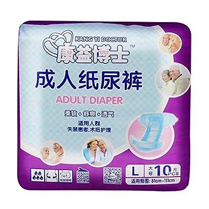 Kang Yi Doctor adulto pañales tela para minusválidos Vieilles mujeres y hombres incontinencia médica desechable L
