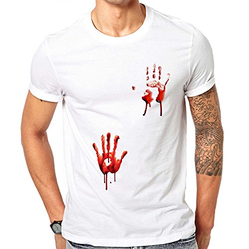 GullPrint Blood Hands Halloween T Shirt X-Large White]()