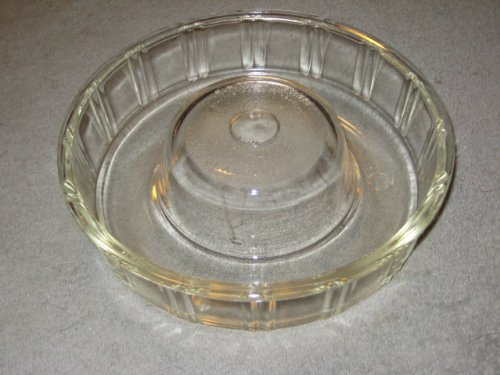 - Vintage Glasbake Queen-Anne Clear Glass Bundt Ring Cake Baking Pan Jell-O Mold - Made In USA