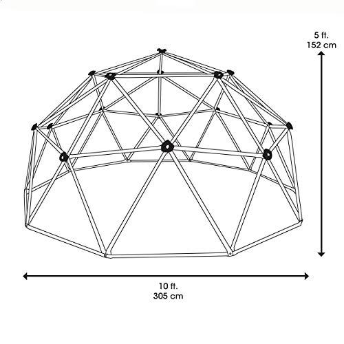 51foc1Vyl9L - Lifetime Geometric Dome Climber Play Center (Primary Colors)