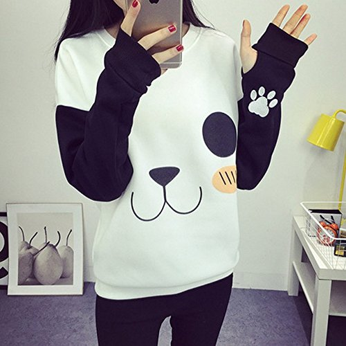 EDC-OnSale New College Wind Women Hoodies Fashion Cartoon Panda Sweatshirts Casual Printed Mixed Color